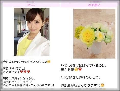 伊藤綾子の匂わせ黄色の花束